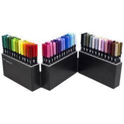 Estuche 108 Marcadores Acuarelables Doble Punta Tombow Dual Brush Pens Abierto