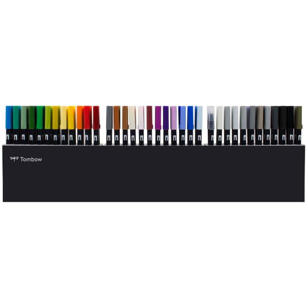 Estuche 108 Marcadores Acuarelables Doble Punta Tombow Dual Brush Pens Largo