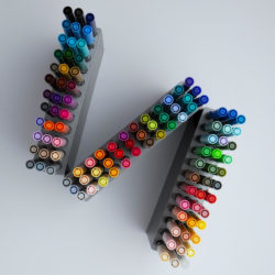 Estuche 108 Marcadores Acuarelables Doble Punta Tombow Dual Brush Pens Vista Superior