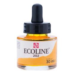 Frasco de Acuarela Líquida ECOLINE 30 ml – Amarillo Oscuro 202