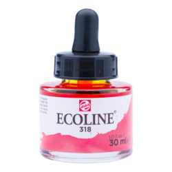 Frasco de Acuarela Líquida ECOLINE 30 ml – Carmín 318