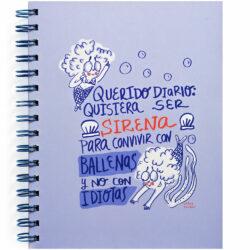 "Libreta con Hojas Punteadas para Bullet Journal Carlota ""Sirena"""