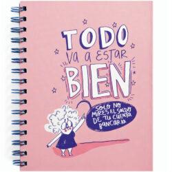 "Libreta con Hojas Punteadas para Bullet Journal Carlota ""Todo va a estar bien"""
