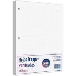 Paquete 100 Hojas Trapper Tamaño Carta IRBE 3 Perforaciones 120 g - Punteadas