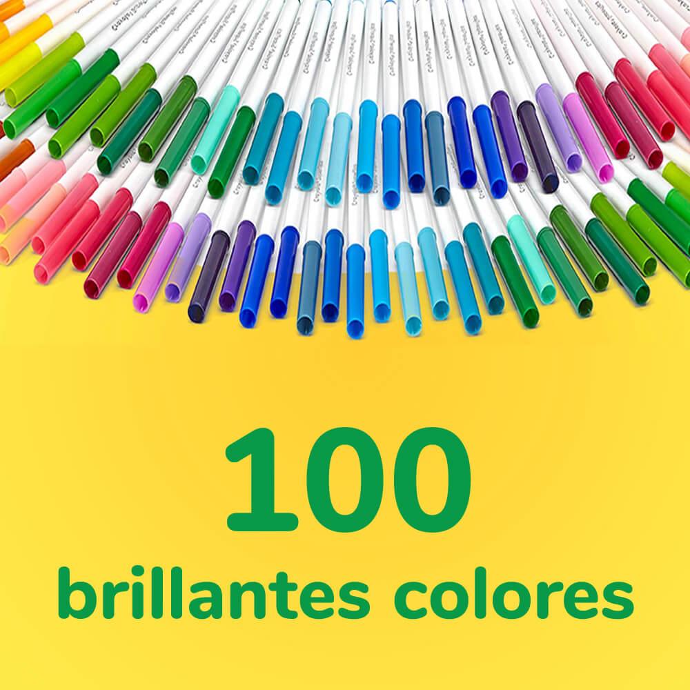 Set 100 Marcadores Crayola Super Tips Colores