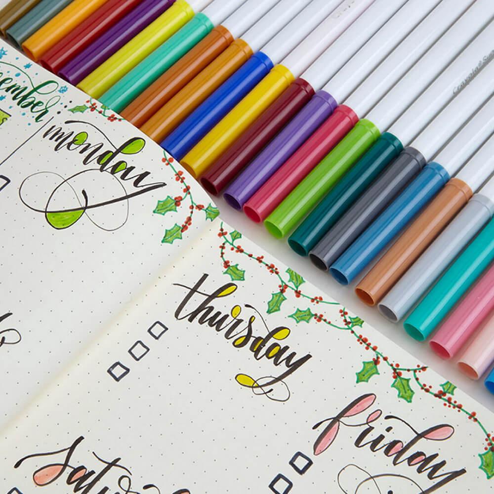 Set 100 Marcadores Crayola Super Tips Lettering