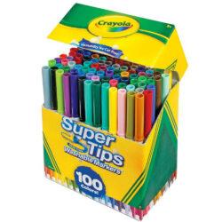 Set 100 Marcadores Crayola Super Tips Vista