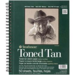 Sketch Pad Anillado de Papel Tono Bronceado Strathmore Serie 400 (22.9 x 30.5 cm)