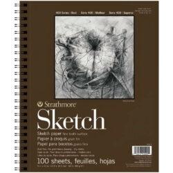 Sketch Pad Anillado de Papel para Dibujo Strathmore Serie 400 (22.9 x 30.5 cm)