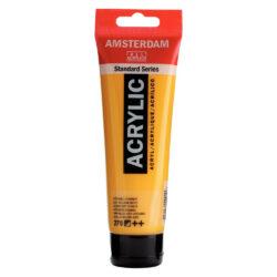 Tubo 120 ml Pintura Acrílica AMSTERDAM – Serie Estándar – Amarillo Azo Oscuro 270