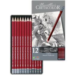 Estuche Metálico 12 Lápices de Grafito para Bellas Artes CRETACOLOR Cleos Principal