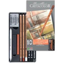 Estuche Metálico con 10 Piezas para Dibujo CRETACOLOR Artino