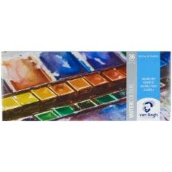 Estuche Metálico de Acuarelas Van Gogh con 36 colores en Pastillas