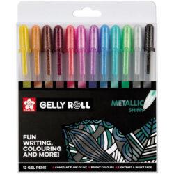 Set 12 Bolígrafos Gel Brillantes Sakura Gelly Roll Metallic