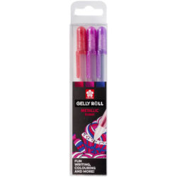 Set 3 Bolígrafos Gel Brillantes Sakura Gelly Roll Metallic Dulces