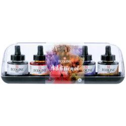 Set 5 Frascos de Acuarela Líquida ECOLINE 30 ml Colores Secundarios