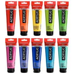 Tubos 120 ml Pintura Acrílica AMSTERDAM – Serie Estándar – por Unidad (73 Colores)