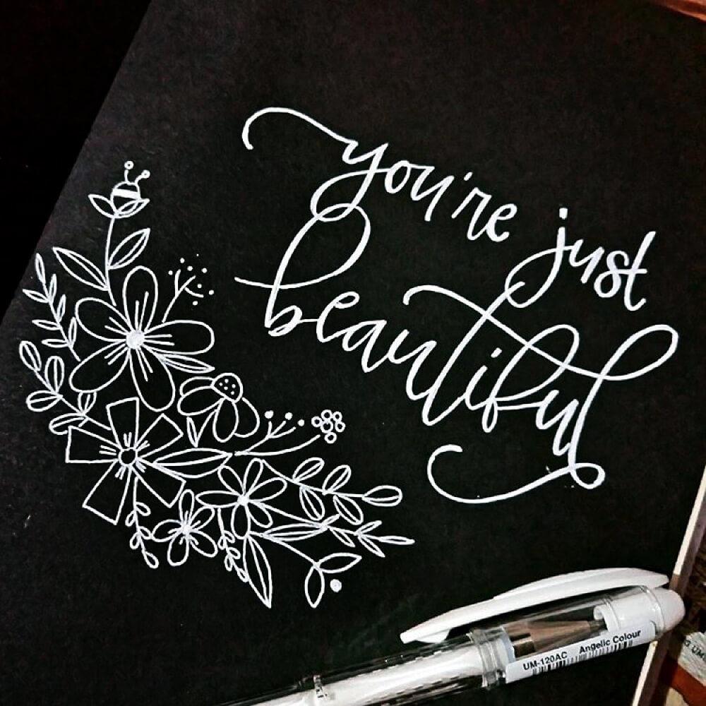 Bolígrafo Gel Blanco uni-ball Signo Angelic Colour Beautiful