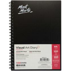 Diario de Arte Visual Mont Marte Signature con 120 Páginas de 110 g Tamaño A4