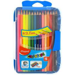 Estuche 15 Lápices de Colores Maped Color'Peps Smart Box Azul
