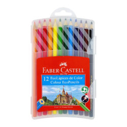Estuche Plástico con 12 EcoLápices de Color Faber-Castell
