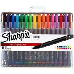 Estuche Plástico con 16 Micropuntas Sharpie Art Pen