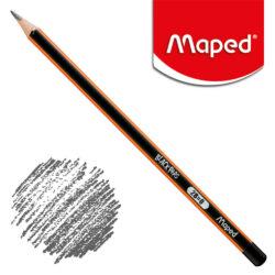 Lápiz Triangular Negro Maped Black'Peps 2B