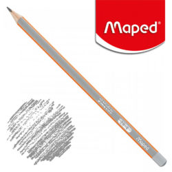 Lápiz Triangular Negro Maped Black'Peps 2H