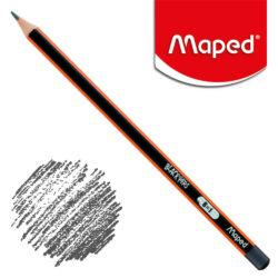 Lápiz Triangular Negro Maped Black'Peps B