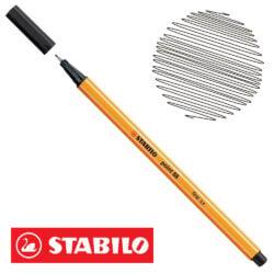 Micropunta 0.4 STABILO Point 88-46 Negro