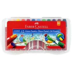 Set 12 Óleos Pastel Faber-Castell con Estuche Rígido