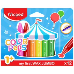 Set 12 Crayones de Cera Maped Wax Jumbo