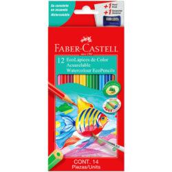 Set 12 EcoLápices de Color Acuarelable Faber-Castell
