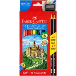 Set 12 EcoLápices de Color Faber-Castell + 2 EcoLápices de Grafito y Tajador