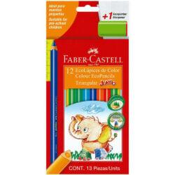 Set 12 EcoLápices de Color Jumbo Triangular Faber-Castell
