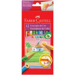 Set 12 EcoLápices de Colores Mezclados 3 en 1 Faber-Castell
