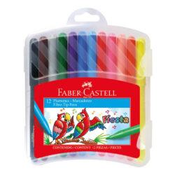 Set 12 Marcadores Fiesta Faber-Castell con Estuche Rígido