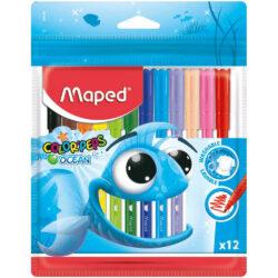 Set 12 Marcadores Lavables Maped Color'Peps Ocean