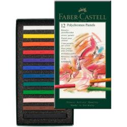 Set 12 Tizas Pastel para Artistas Faber-Castell POLYCHROMOS