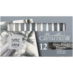 Set 12 Tizas Pastel para Bellas Artes CRETACOLOR - Grises