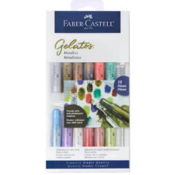 Set 15 Piezas Mix & Match Gelatos Faber-Castell Colores Metálicos