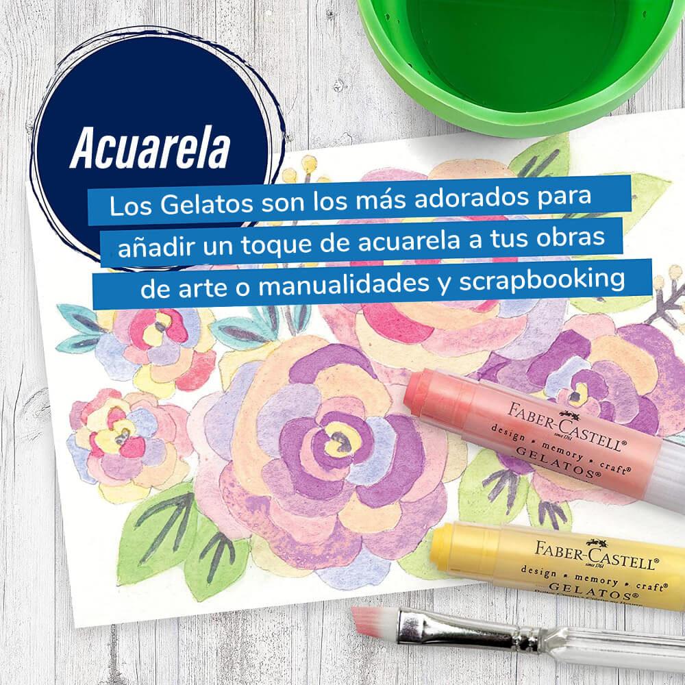 Set 15 Piezas Mix & Match Gelatos Faber-Castell Colores Pastel Adorados