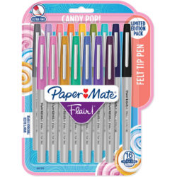Set 16 Rotuladores Paper Mate Flair Ultra Fine Candy Pop