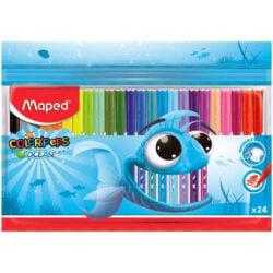Set 24 Marcadores Lavables Maped Color'Peps Ocean