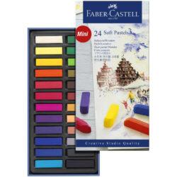 Set 24 Tizas Pastel Blandas Mini Faber-Castell Creative Studio