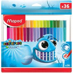 Set 36 Marcadores Lavables Maped Color'Peps Ocean