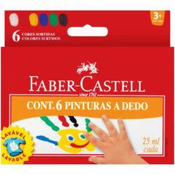 Set 6 Pinturas a Dedo Lavables Faber-Castell