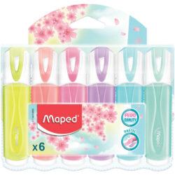Set 6 Resaltadores Maped Fluo Pastel