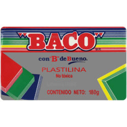 Barra de Plastilina -BACO- 180 gr - Gris