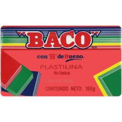 Barra de Plastilina -BACO- 180 gr - Rojo